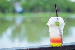 Italian soda cold Blur background river. Italian soda cold Blur background river , Thailand Royalty Free Stock Image