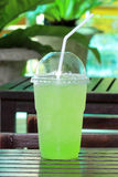 Italian Soda kiwi Royalty Free Stock Photo