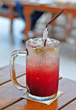 Italian soda with Rasberry Stock Photos