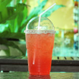 Italian soda strawberry Stock Images