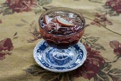 Italian soda vintage. Apple  Italian soda drink,delicious ltalian soda vintage Stock Image