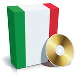 Italian software box and CD Royalty Free Stock Photo
