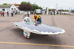 Italian solar-powered vehicle Royalty Free Stock Image