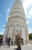 Italian soldiers in Cathedral Square of Pisa Royalty Free Stock Images