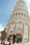 Italian soldiers in Cathedral Square of Pisa Royalty Free Stock Photos