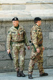 Italian soldiers. Picture of Italian army soldiers in uniform Stock Photo