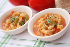 Italian soup with vegetables Stock Photos