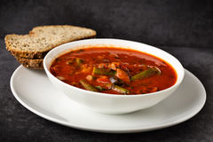 Italian soup with veggies Royalty Free Stock Image