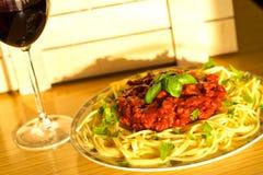 Italian spaghetti Royalty Free Stock Image