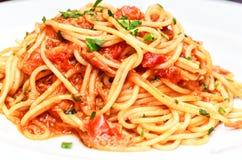 Italian Spaghetti al tonno Royalty Free Stock Image