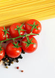 Italian spaghetti background stock image