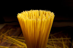 Italian spaghetti on black Stock Photos