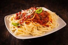 Italian spaghetti Bolognaise Stock Photography