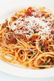Italian spaghetti bolognese Stock Photos