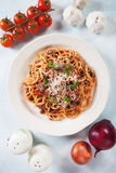 Italian spaghetti bolognese Royalty Free Stock Photo