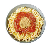Italian spaghetti with Bolognese sauce Stock Photography