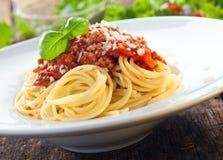 Italian spaghetti with bolognese sauce Royalty Free Stock Photos