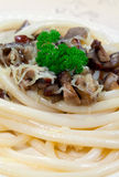Italian Spaghetti with Cep Royalty Free Stock Image