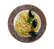 Italian for spaghetti with clams Royalty Free Stock Photos