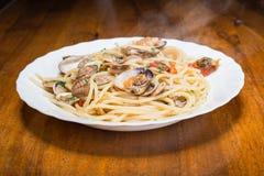 Italian spaghetti and clams Royalty Free Stock Photography