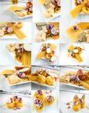 Italian spaghetti collage Stock Image