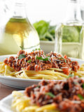 Italian spaghetti dinner Royalty Free Stock Photo
