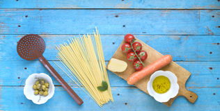 Italian spaghetti dish Stock Photo
