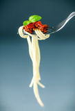 Italian spaghetti on a fork Royalty Free Stock Photo