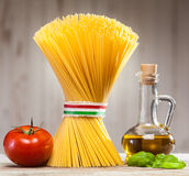 Italian spaghetti with fresh ingredients Stock Image