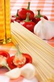 Italian spaghetti ingredients Royalty Free Stock Image