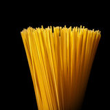 Italian spaghetti isolated on black Royalty Free Stock Photography