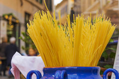 Italian spaghetti in a jar Stock Photo