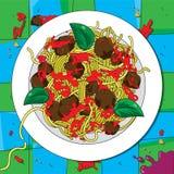 Italian spaghetti stock illustration