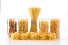 Italian spaghetti pasta dried food Royalty Free Stock Images