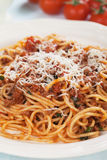 Italian spaghetti in sauce bolognese Stock Photo