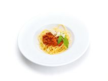 Italian spaghetti Royalty Free Stock Photo
