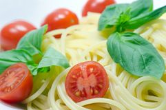Italian spaghetti. Typical italian pasta Stock Images