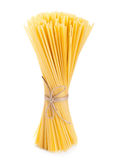 Italian spaghetti  on white Royalty Free Stock Image