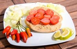 Italian specialties finger food Stock Photos