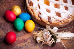 Italian Specific Recipes - Pastiera Royalty Free Stock Image