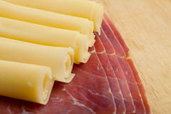 Italian speck and cheese Stock Photo