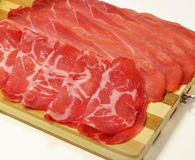 Italian speck and coppa, typical tyrolean Royalty Free Stock Photo