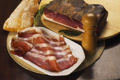 Italian speck ham Stock Image