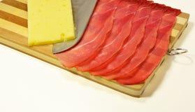 Italian speck, smoked tasty ham Stock Photo