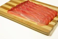 Italian speck, smoked tasty ham Royalty Free Stock Photography