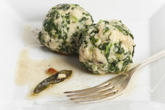 italian spinach dumplings Stock Photography