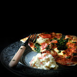Italian Spinach And Ricotta Pizza Royalty Free Stock Photo