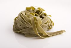 Italian spinach tagliatelle Stock Images