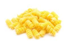 Pasta. Italian spiral pasta isolated on white background Royalty Free Stock Photos