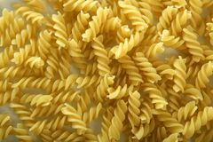 Italian spiral pasta texture Royalty Free Stock Photo